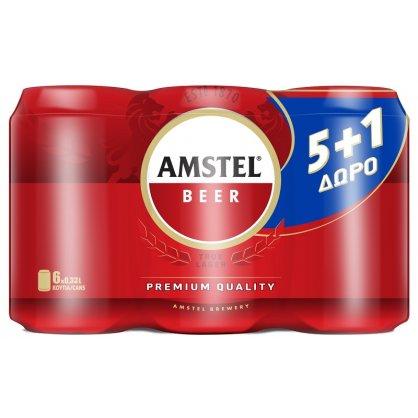 AMSTEL 4*(6*330 ML) (5+1)