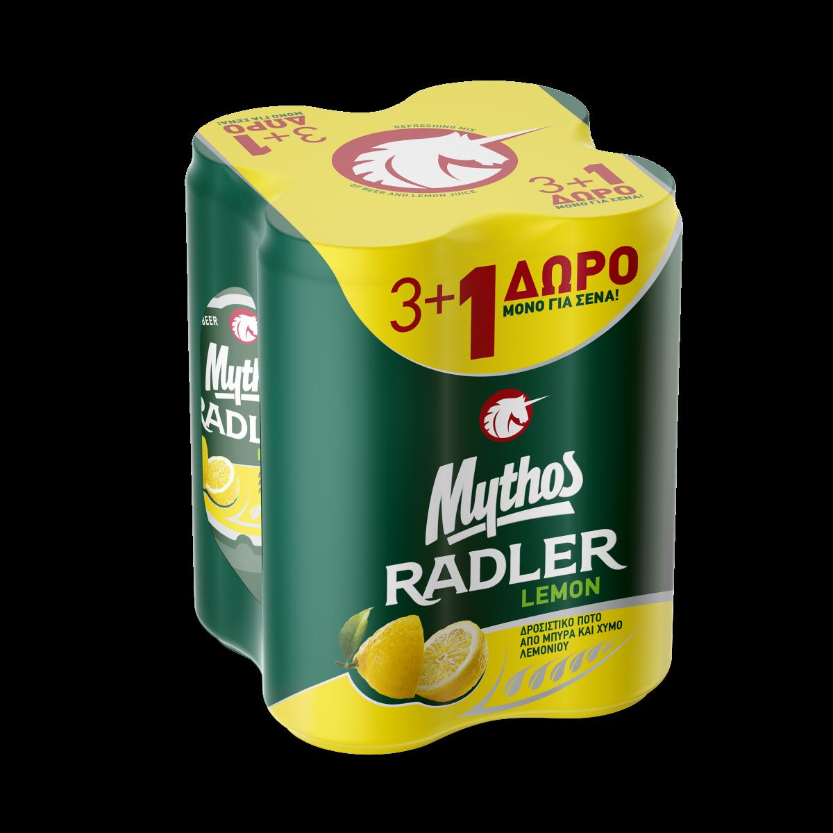 ΜΥΘΟΣ RADLER ΛΕΜΟΝΙ 6*(4*330 ML) (3+1)