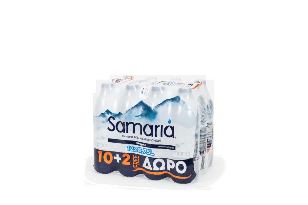 ΣΑΜΑΡΙΑ ΕΠΙΤΡΑΠΕΖΙΟ ΝΕΡΟ (12*750 ML) (10+2)